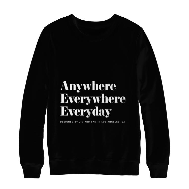 b7a3e31008b9 Anywhere Everywhere Everyday Sweatshirt Black Hanes Ultimate Heavyweight  Crewneck