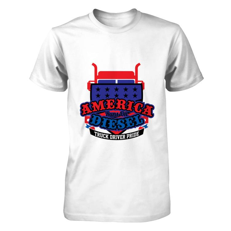 1ad1098f509102 Trucker Driver Pride! New T-Shirt Design! White Next Level Unisex Fitted Tee