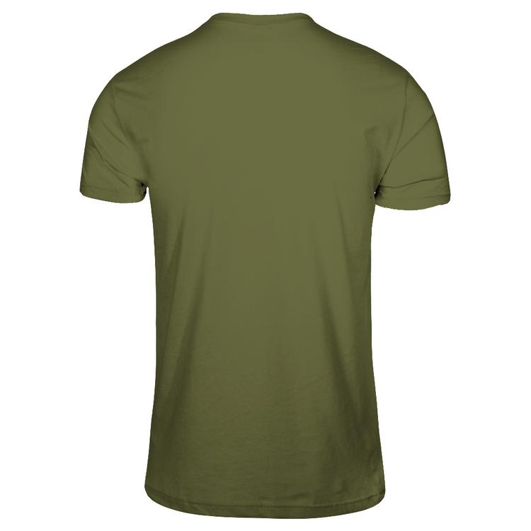 3526980f Pumpkin Hill & Chill - T-shirts! Military Green Next Level Unisex Fitted Tee