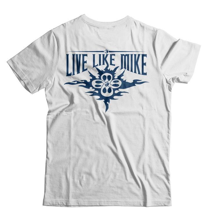 39db64a2c9fdb2 Live Like Mike - (Men T s) Light Colors White Next Level Unisex Fitted Tee