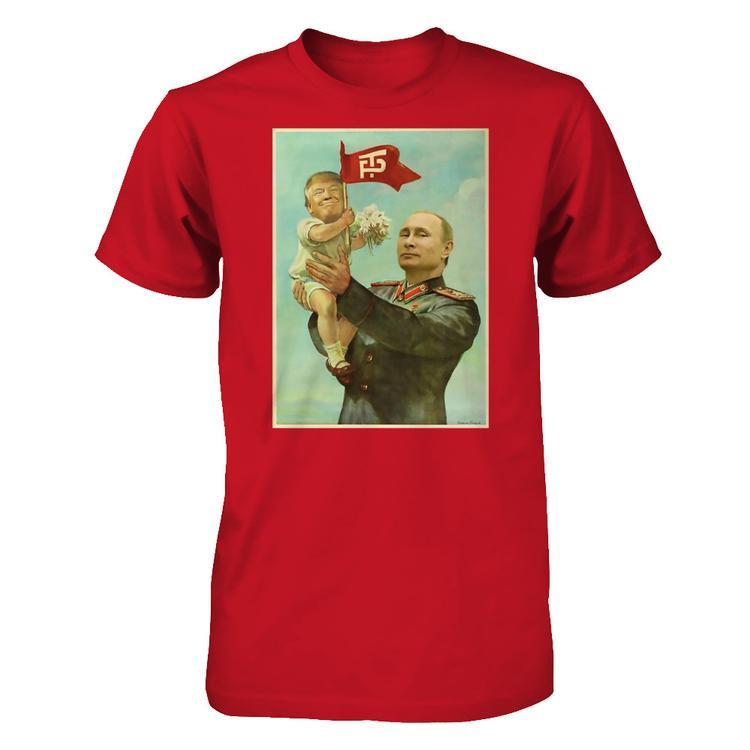 6470d268f Baby Trump with Putin t-shirt Red Gildan Short Sleeve Tee
