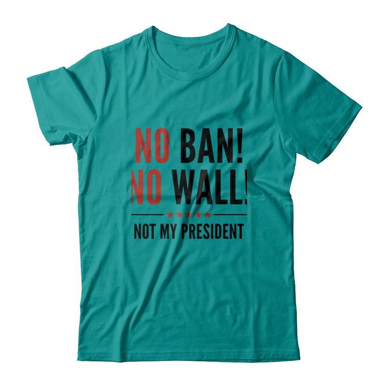 150cb0b8ccd5 No Ban! No Wall! anti Trump T-Shirt Jade Dome Gildan Short Sleeve