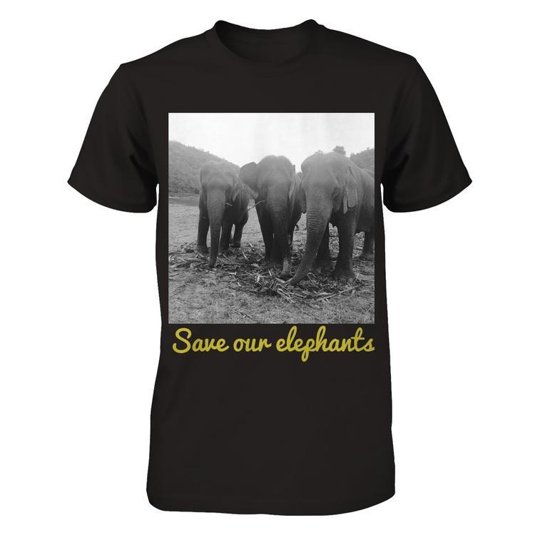 78ed69c9f Help Support the Elephant Nature Park Black Gildan Short Sleeve Tee