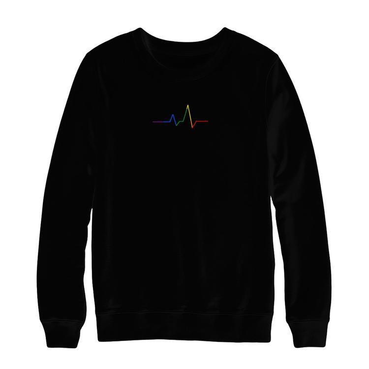 Heartbeat Sweatshirt (Black)  e03ee13ce