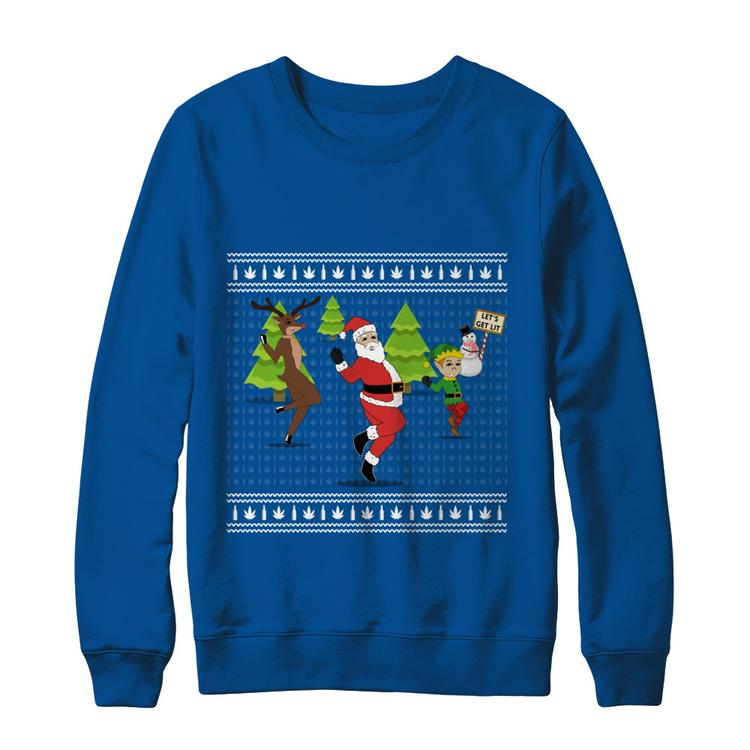 2e92d3820 Funny Ugly Christmas Sweater Shoot Dance Deep Royal Hanes Ultimate  Heavyweight Crewneck