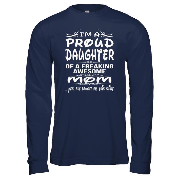 5b9c0f2a75da DAUGHTER - MOM <<< Navy Gildan Long Sleeve Tee front. >>>