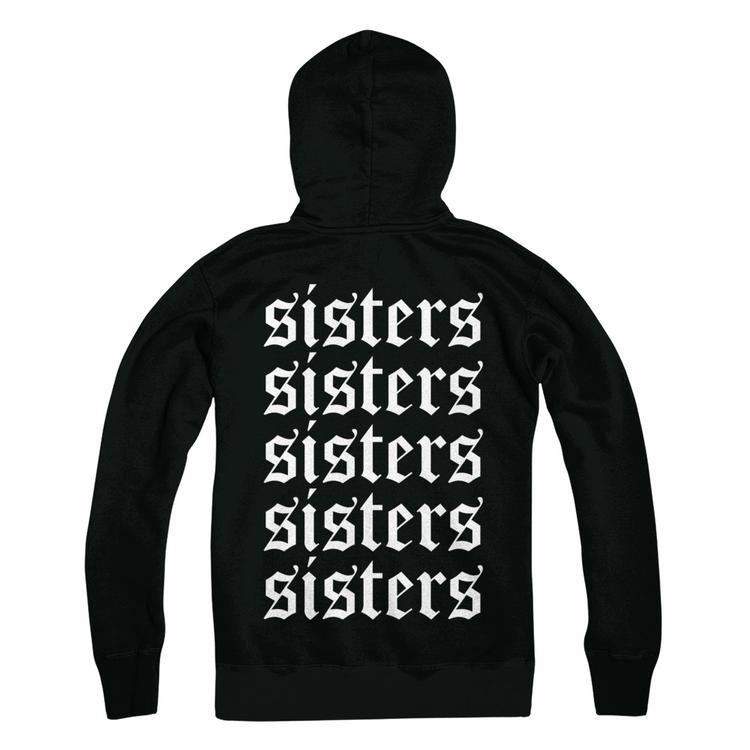 f06b7085f Sisters Hoodie Black Hanes Ultimate Heavyweight Hoodie
