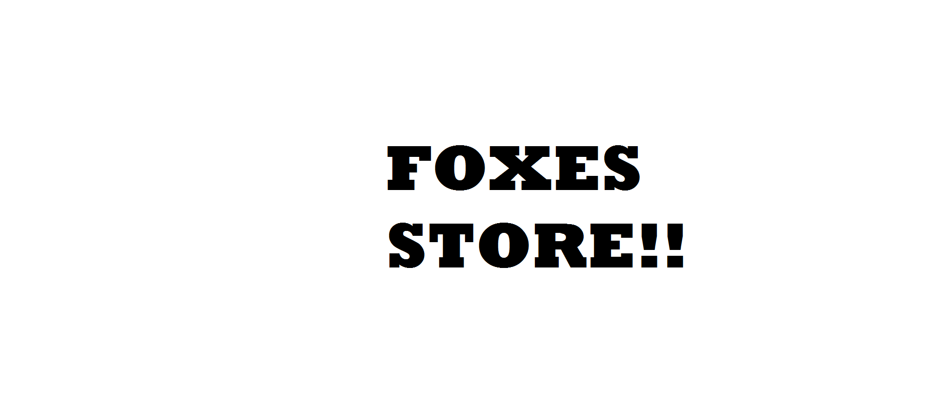 Foxes Productions Store