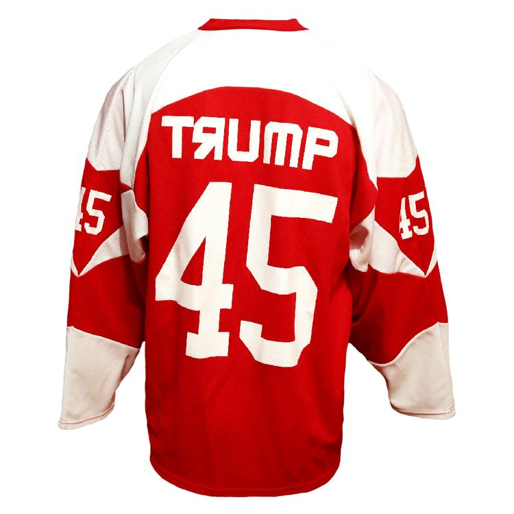 0b61b7337 CCCP Team Jersey | #45 Trump Scarlet / White #45 Hockey Jersey back