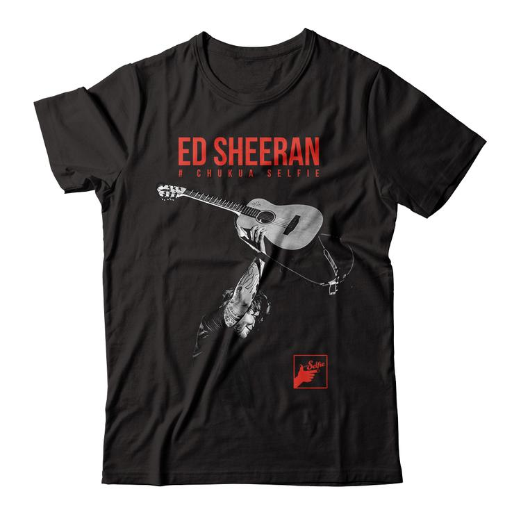 a8368139434 Ed Sheeran  ChukuaSelfie Apparel Black Unisex Fitted Tee